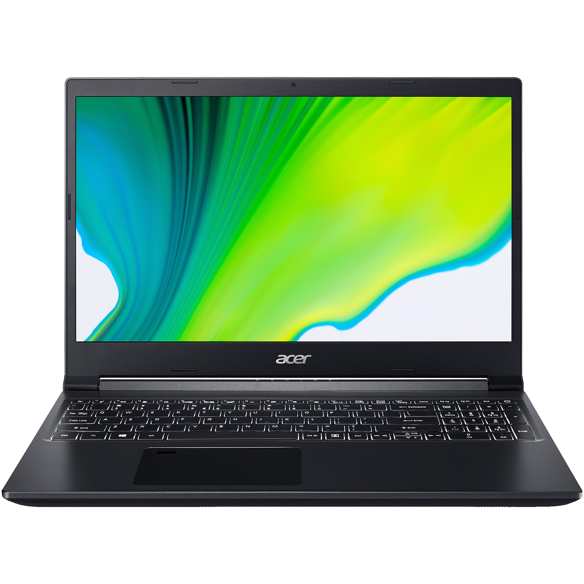 "Fotografie Laptop Gaming Acer Aspire 7 A715-41G cu procesor AMD Ryzen 5 3550H pana la 3.70 GHz, 15.6"", Full HD, IPS, 8GB, 512GB SSD, NVIDIA GeForce GTX 1650 4GB, No OS, Black"