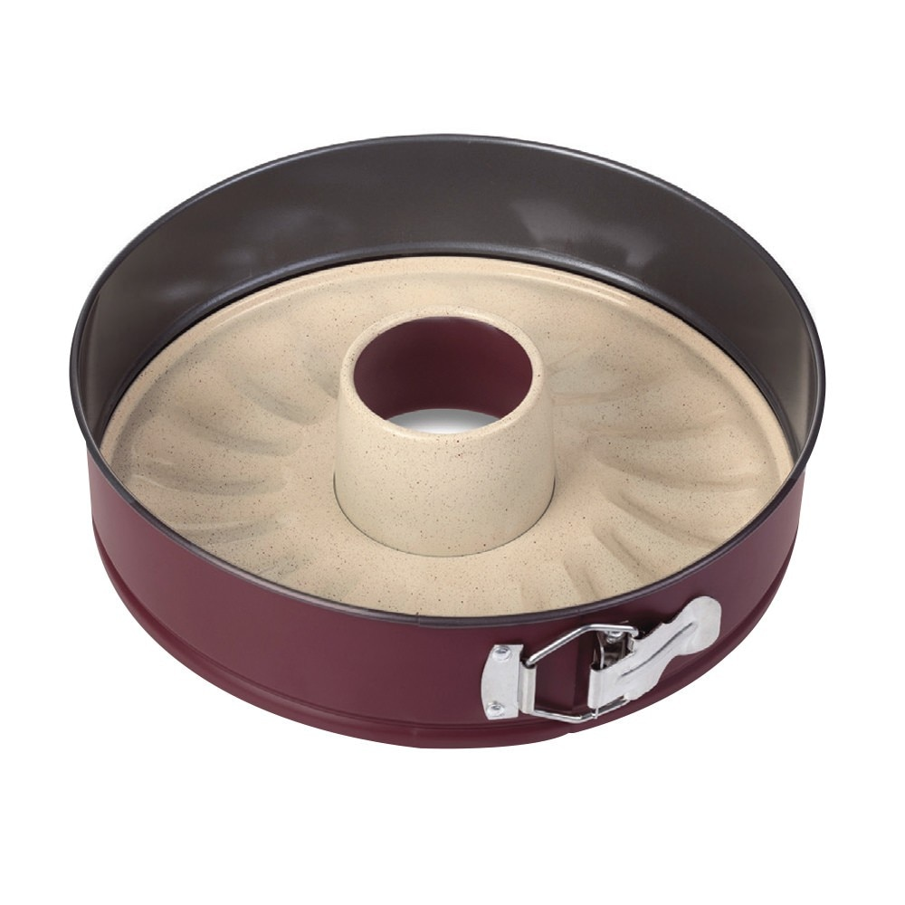 Fotografie Forma pentru tort cu baza detasabila NAVA Terrestrial, cu invelis ceramic, otel carbon, 7 x 28 cm