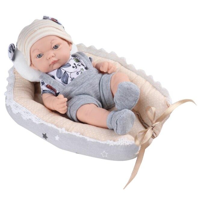 Fotografie Papusa Mappy - Baby so lovely, cu cosulet, bleu, 25 cm