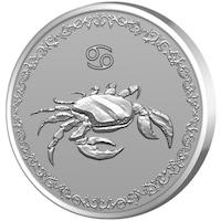 Сребърен медальон Gold Center Зодия Рак