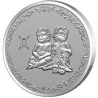 Сребърен медальон Gold Center Зодия Близнаци