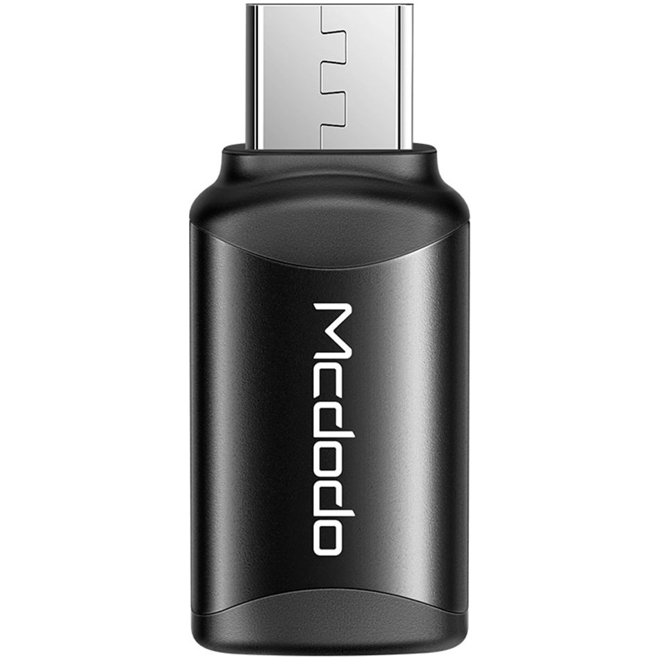 Fotografie Adaptor Mcdodo Extreme Series Lightning la MicroUSB, Black