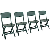 Комплект 4 градински стола IDEA Mistral, 39x47x81 см, Зелен