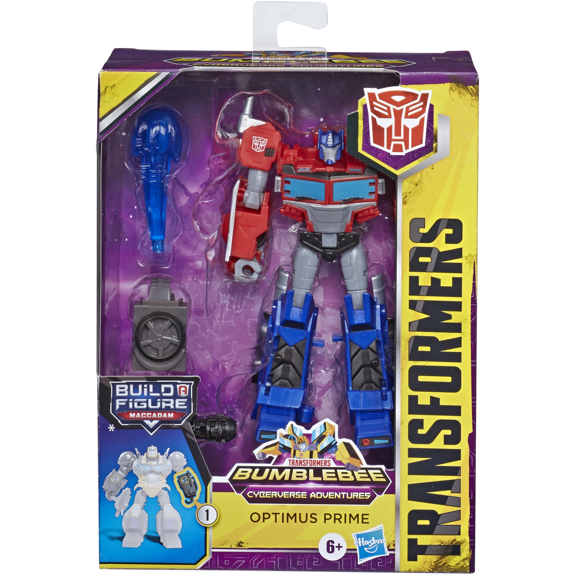 Fotografie Figurina Transformers Cyberverse Adventures Deluxe - Optimus Prime, 12 cm