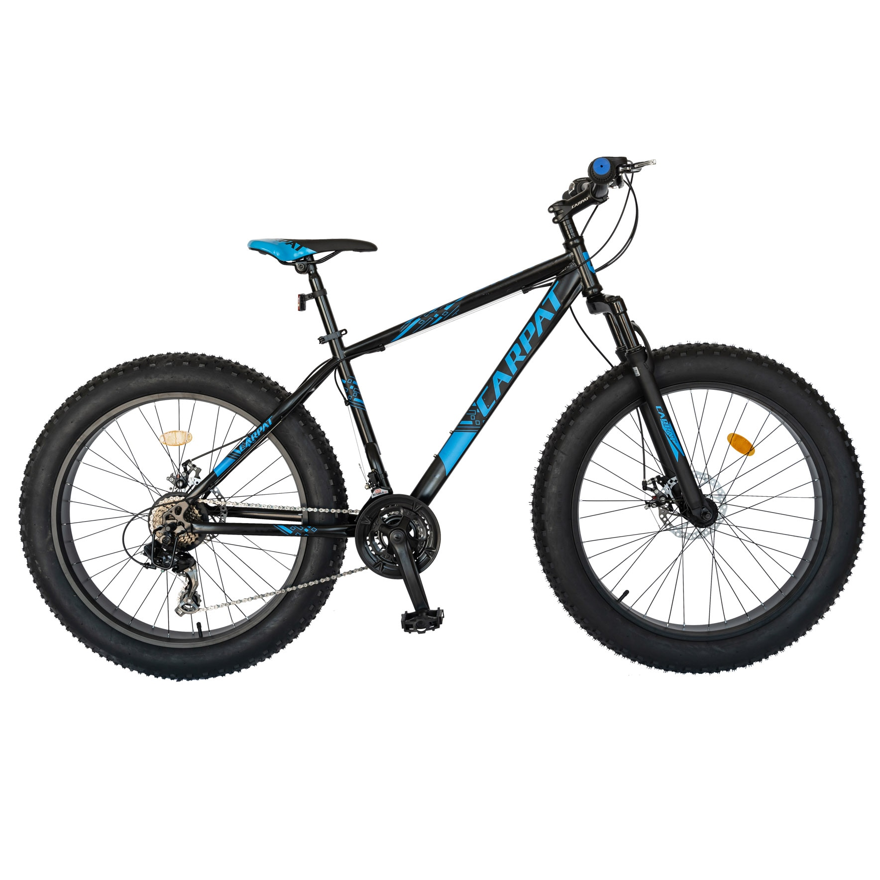"Fotografie Fat Bike Carpat C2619B frana disc, transmisie Shimano, 26"", Negru/Albastru"