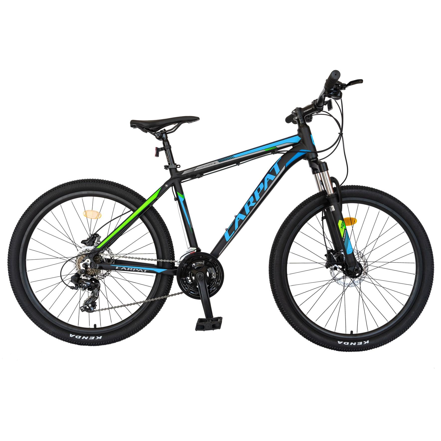 "Fotografie Bicicleta MTB 26"" Carpat C2681H, frana Hidraulica, transmisie Shimano, Negru/Albastru"