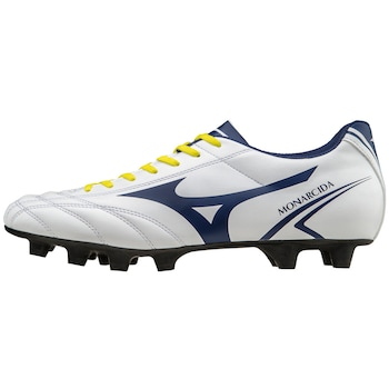 Mizuno Monarcida MD futballcipő, Fehér/kék/sárga
