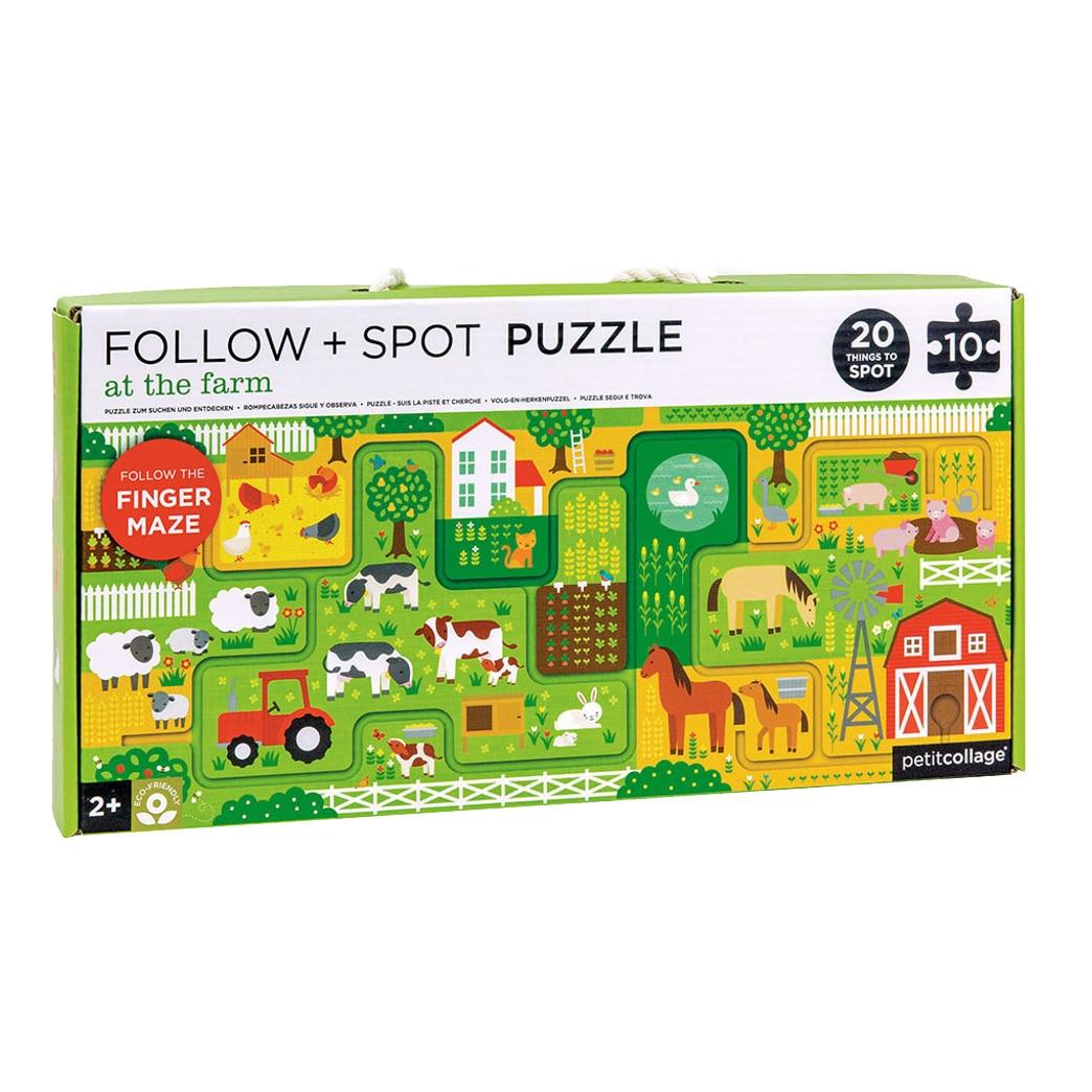 Fotografie Puzzle XL Petit Collage - La ferma, 10 piese