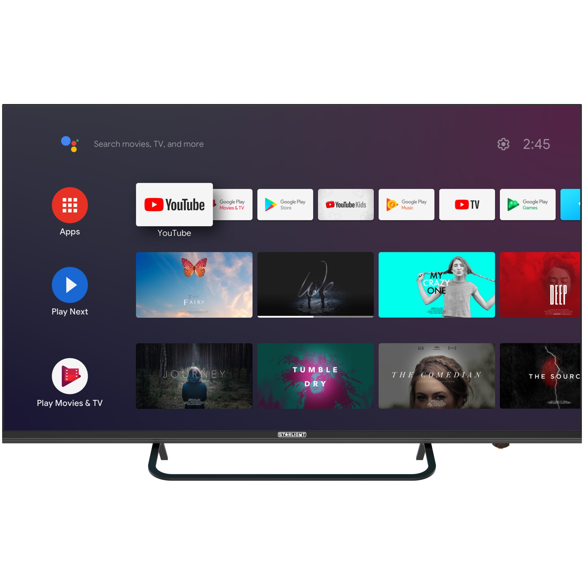 Fotografie Televizor Star-Light 43DM6700, 109 cm, Smart Android, Full HD, LED, Clasa F