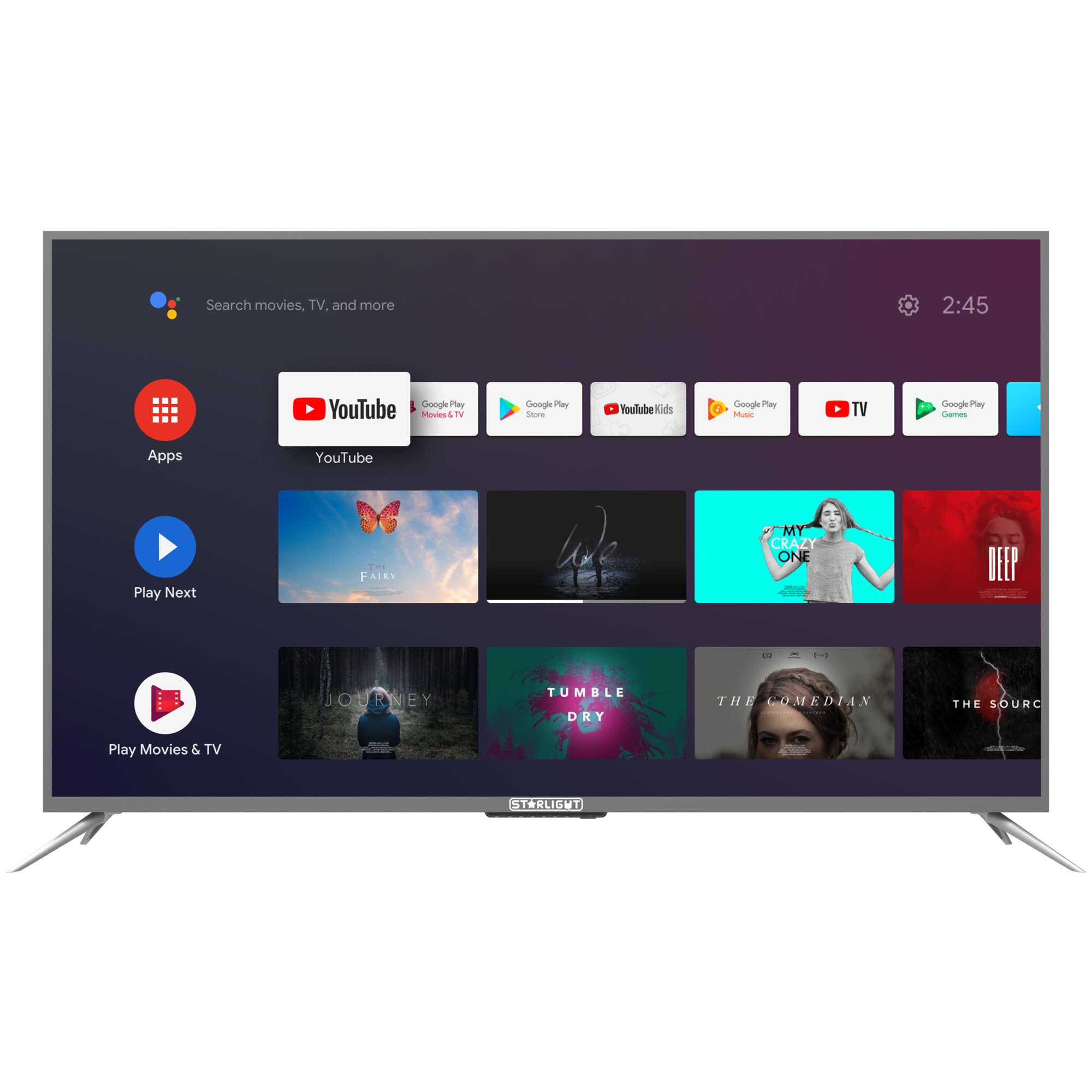 Fotografie Televizor Star-Light 55DM7700, 140 cm, Smart Android, 4k Ultra HD, LED, Clasa G