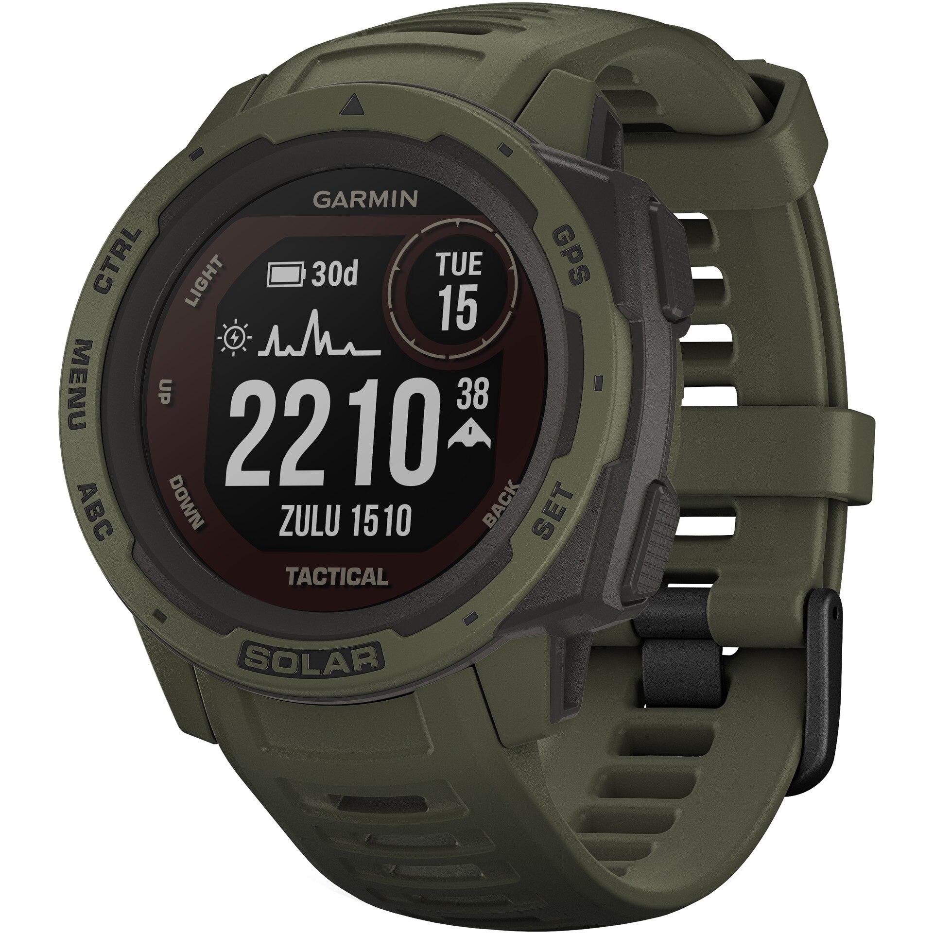 Fotografie Ceas smartwatch Garmin Instinct Solar, Tactical Edition, GPS, Moss