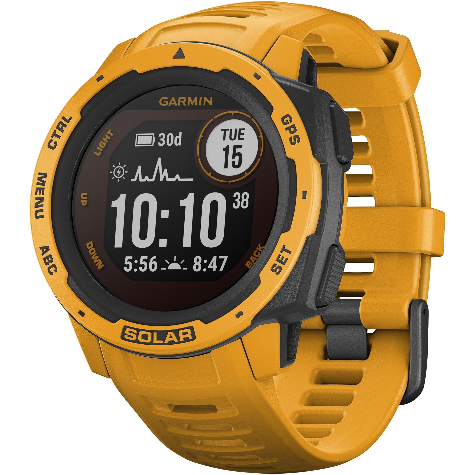 Fotografie Ceas smartwatch Garmin Instinct Solar, GPS, Sunburst