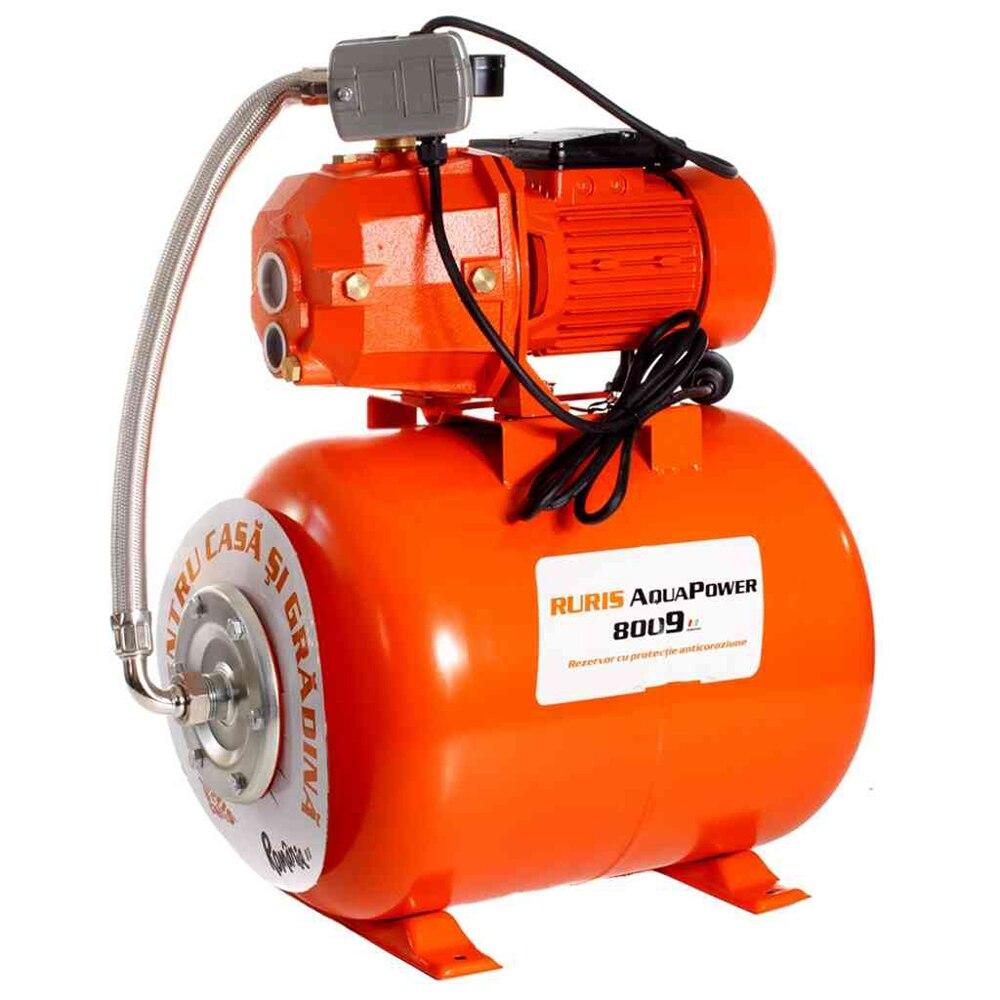 Fotografie Hidrofor Ruris Aquapower 8009, 1100 W, 50 l, debit 30 l/min, refulare 35 m