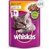 Мокра храна за котки Whiskas, Пилешко, Желе, 24 бр x 100 гр