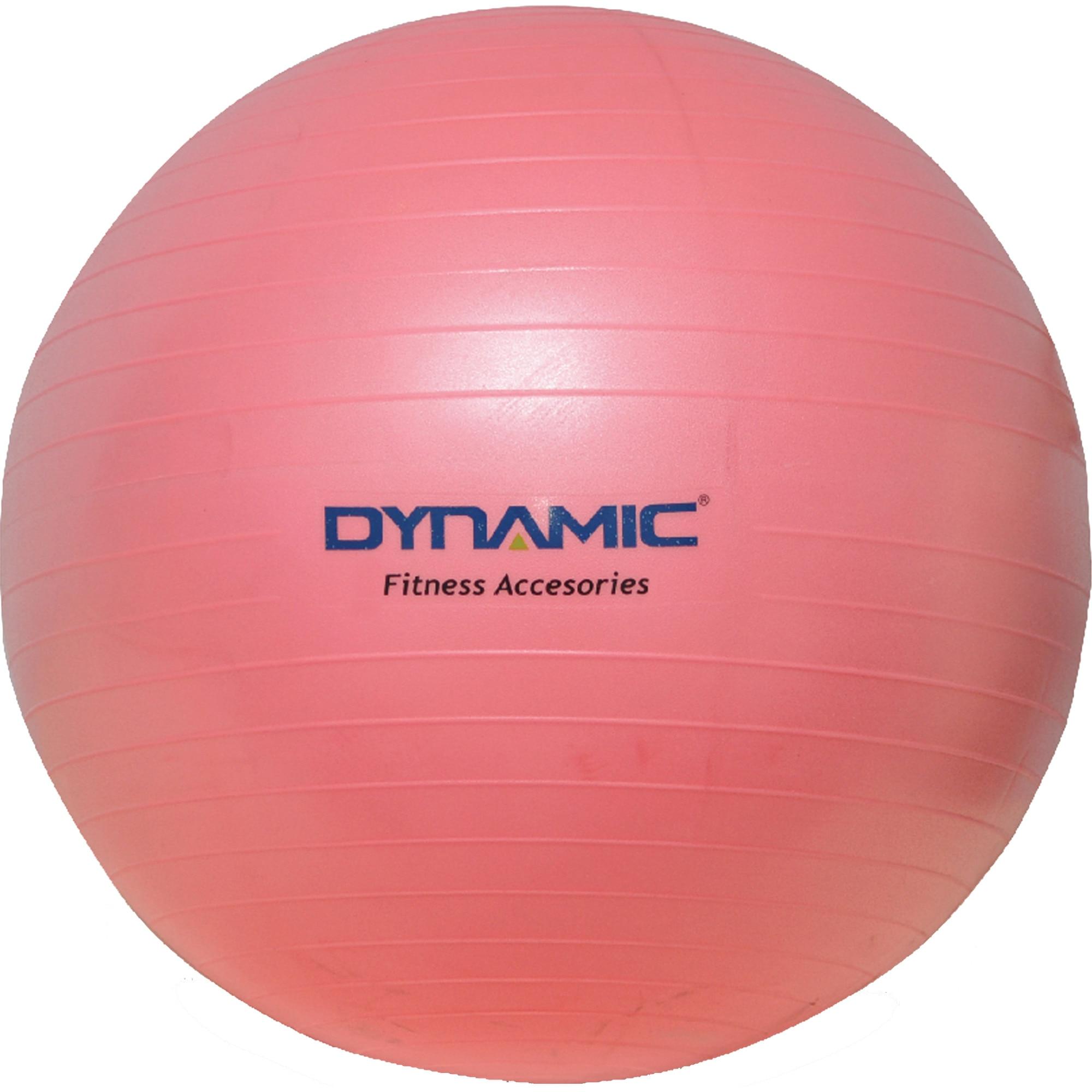 Fotografie Gym-ball fitness Dynamic, 65 cm, cu pompa, culoare roz
