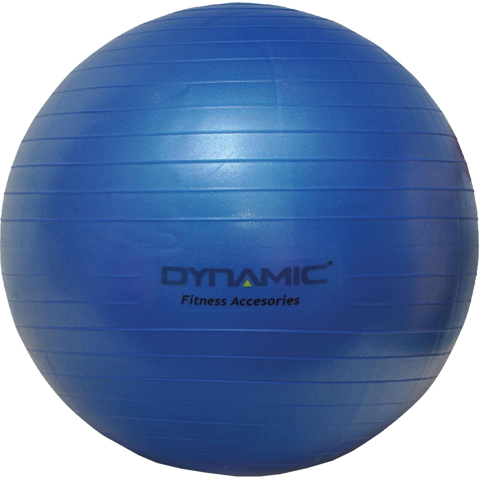 Fotografie Gym-ball fitness Dynamic, 65 cm, cu pompa, culoare albastru