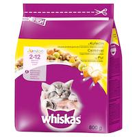 Суха храна за котки, Whiskas, Junior, Пиле, 800 гр
