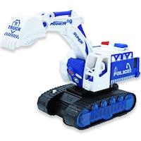7Mall - Transformers 2 in1 játék – robot szuperhőssé alakítható kotrógép fehér