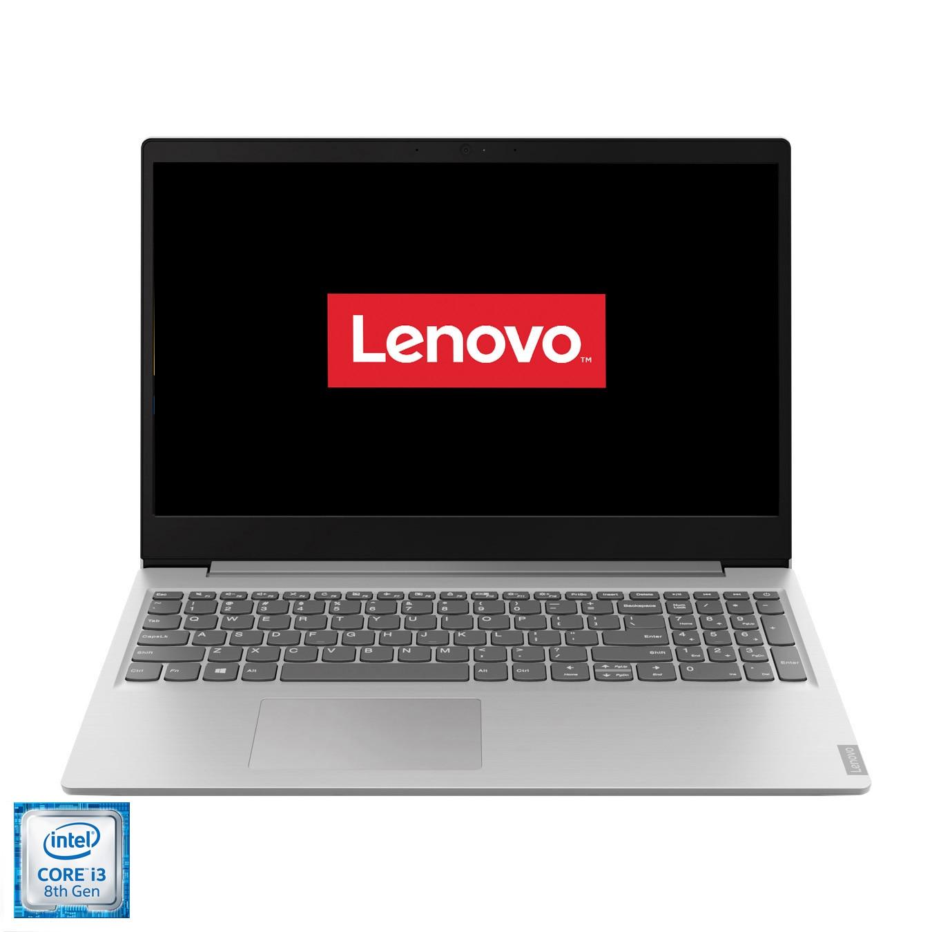 "Fotografie Laptop Lenovo ideapad S145-15IKB cu procesor Intel® Core™ i3-8130U, 15.6"" Full HD, 4GB, 256GB, Intel® UHD Graphics 620, FreeDOS, Platinum Grey"