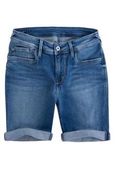 Дамски дънкови къси панталони Pepe Jeans Poppy, Тъмносин, 28 EU