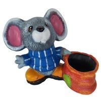 Figurina gradina model soarece, ceramica, 30hx36Lx18l gradina/foisor/balcon, ghiveci/ornament/decoratiune, multicolor