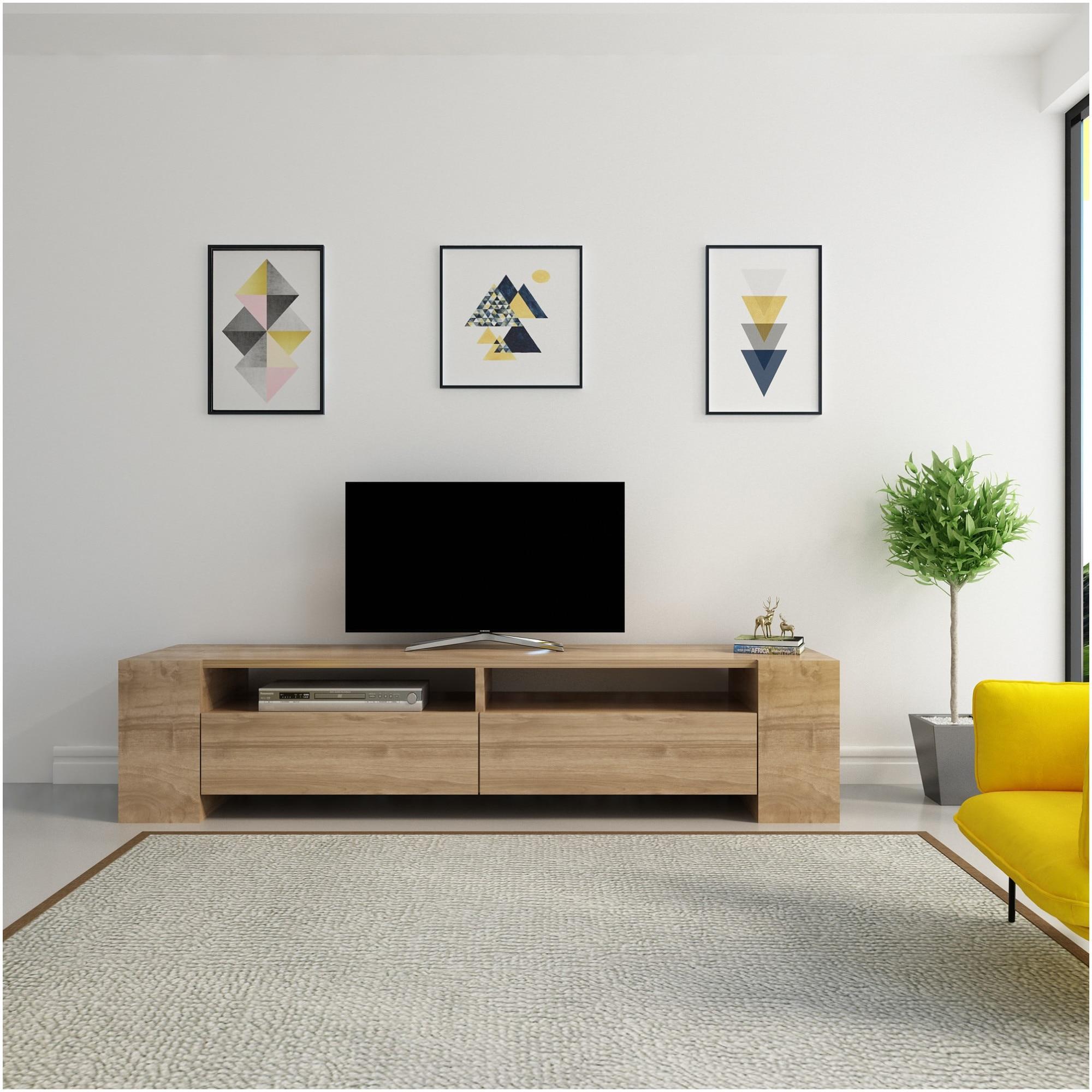 Fotografie Comoda TV Zena Home, 100% pal melaminat, 35 x 155 x 35 cm
