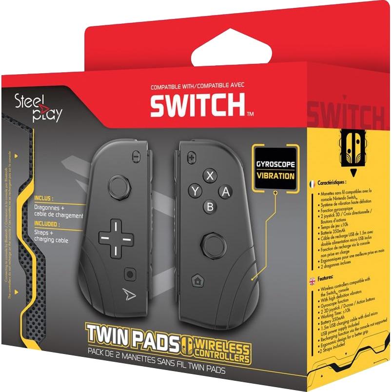 Fotografie Set Controllere Wireless Steelplay Twin Pads pentru Nintendo Switch