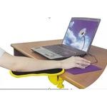 Подлакътник за бюро Automat, регулируема въртяща, се компютърна маса, бюро удължител, подлакът за ръка китка, 29.21 x 13.97 x 10.16 cm, черен/жълт