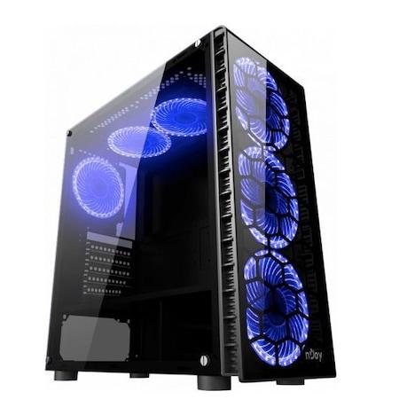 Sistem PC Gaming 5Blue cu procesor Intel® Core™ i5 4430 pana la 3.20GHz, 8GB Ram, SSD 256 Gb, placa video GTX 1050TI 4Gb Gddr5 128bit