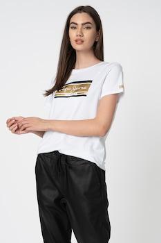 Pepe Jeans London, Zarina logómintás póló, Fehér