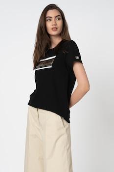 Pepe Jeans London, Zarina logómintás póló, Fekete