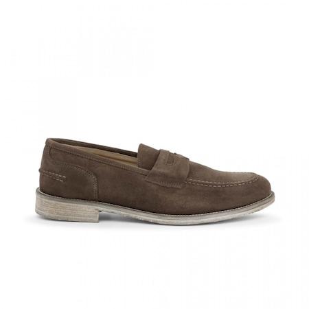 Pantofi barbati, Made in Italia, 1000_CAMOSCIO, Maro, 40