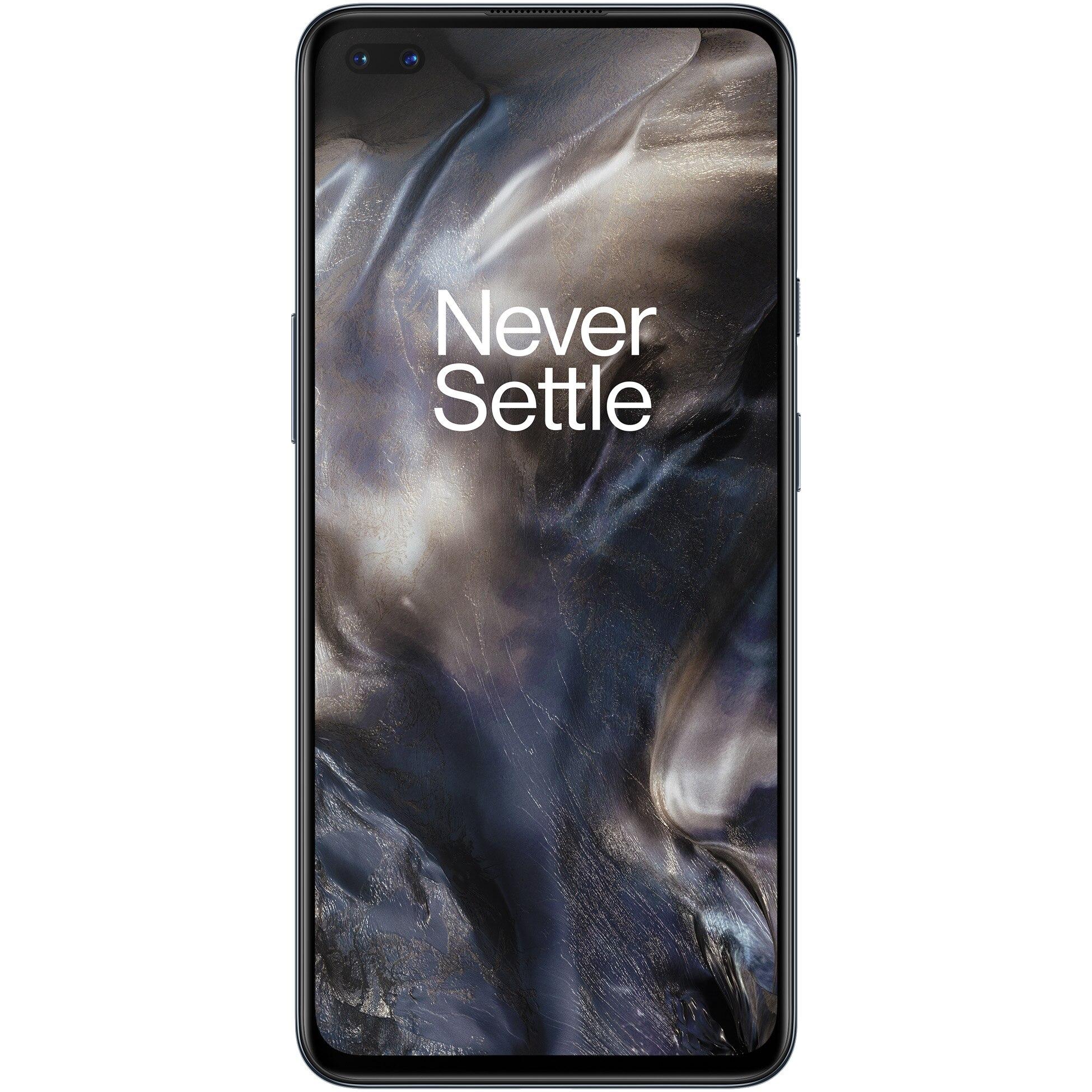 Fotografie Telefon mobil OnePlus Nord, Dual SIM, 128GB, 8GB RAM, 5G, Gray Onyx