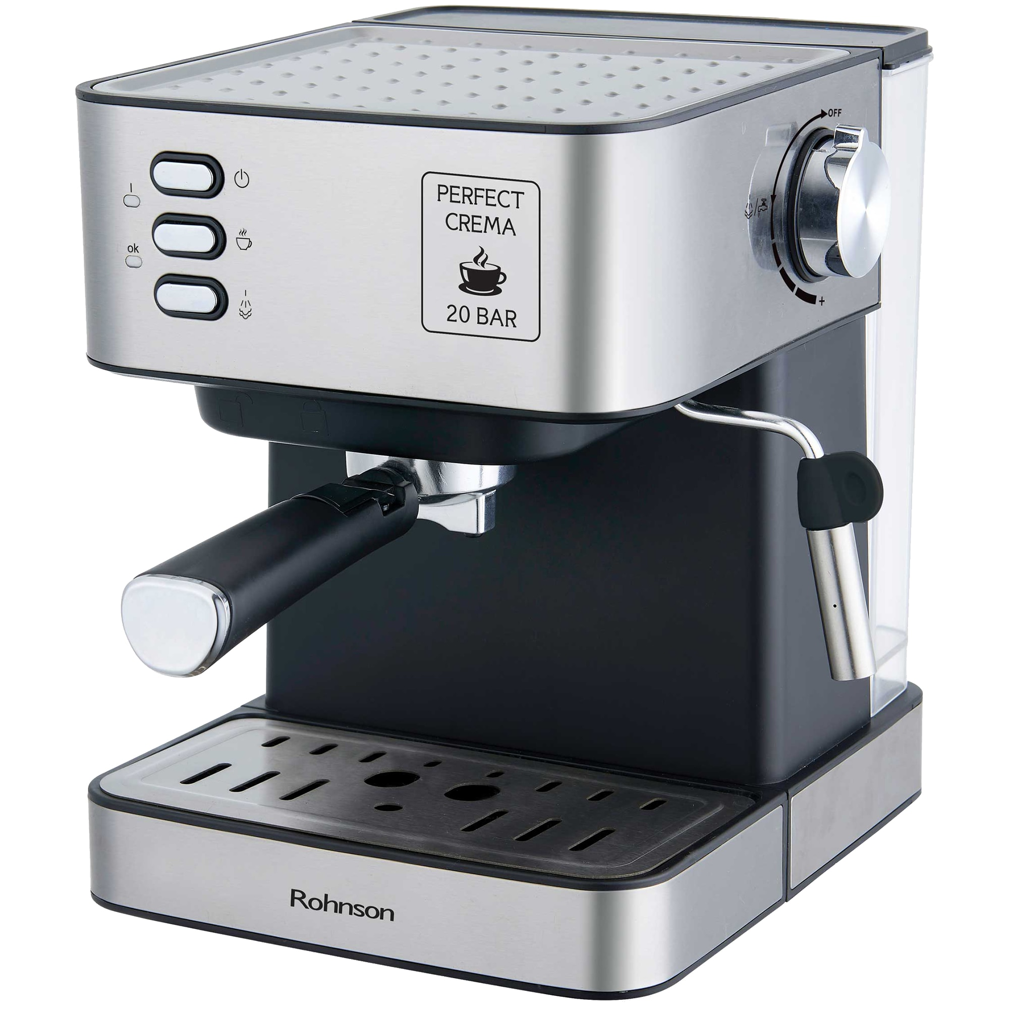 Fotografie Espressor manual Rohnson R982, 850W, 20 bar, Inox