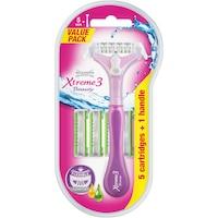 Wilkinson Xtreme 3 Beauty Hybrid Clampack Set, Nőnek, 1 borota+ 5 tartalék fej