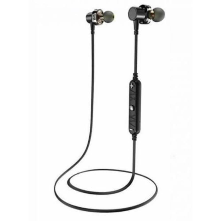 AWEI X660BL - Dual meghajtós In-ear Bluetooth headset sportoláshoz E7WON9