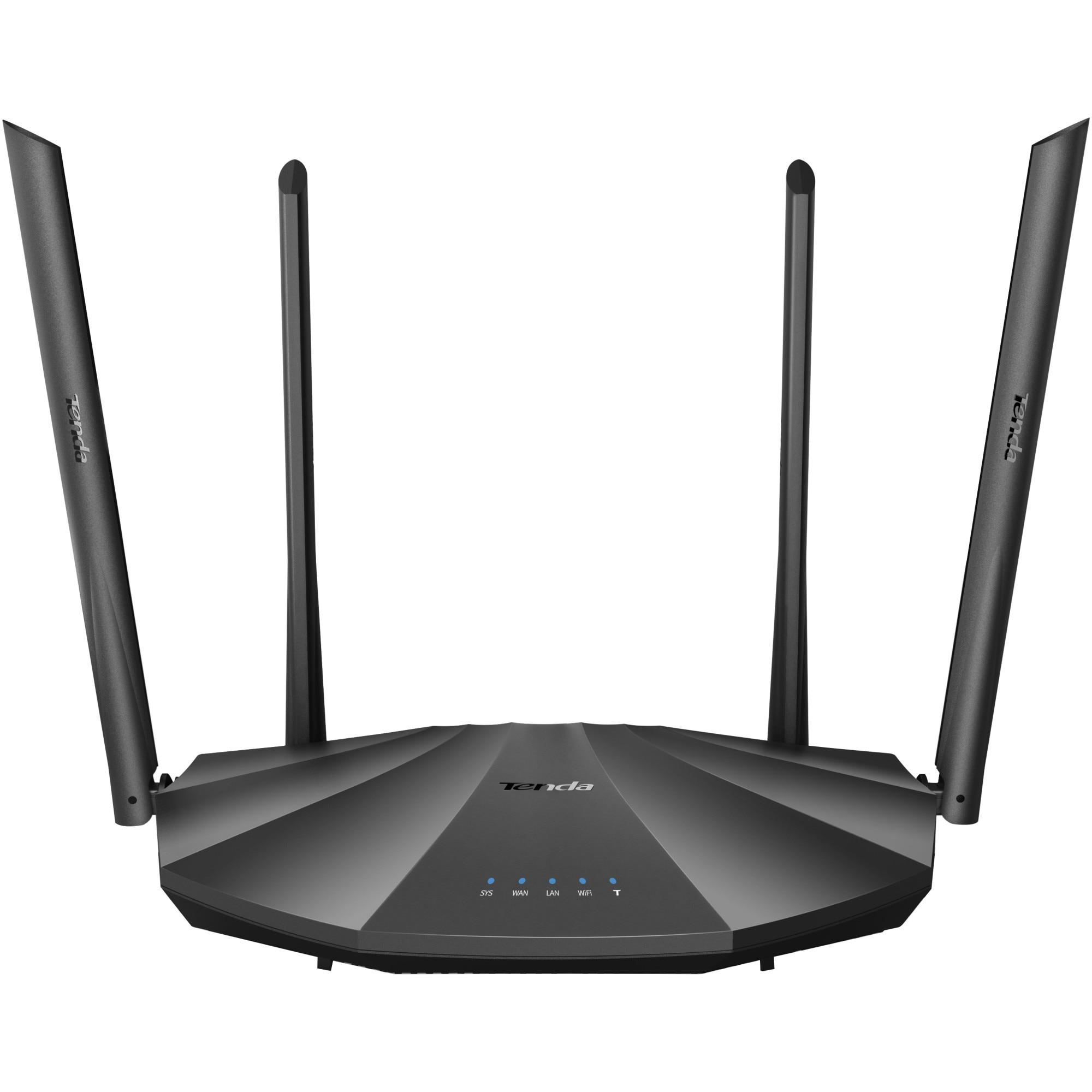 Fotografie Router wireless Tenda AC19, AC2100, Gigabit,USB, dual-band, 4 antene, firewall, MU-MIMO, Wave 2, dual core, IPv6