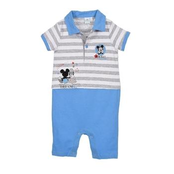 Бебешки гащеризон Disney Mickey, Памук, 3 месеца, 60 см, Бял/Син