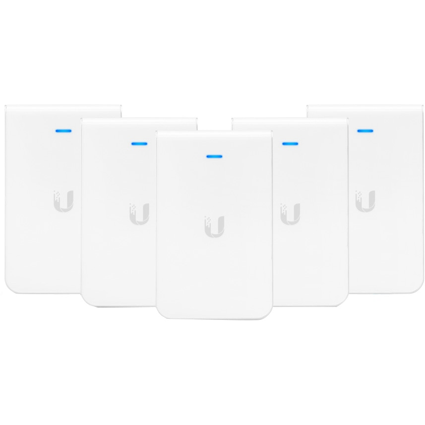 Fotografie Access Point UBIQUITI UAP-AC-IW-PRO, UniFi In-Wall AC PRO 2.4GHz/5GHz, 802.11a/b/g/n/ac, 3xGbE, 802.3at PoE+ 5 pack set