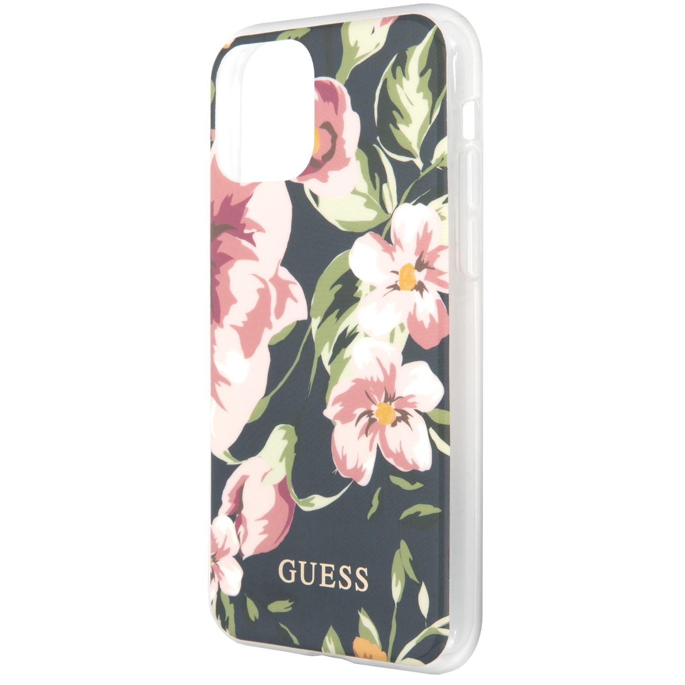 Fotografie Husa de protectie Guess N*3 Flower pentru iPhone 11 Pro Max, GUHCN65IMLFL03, Blue
