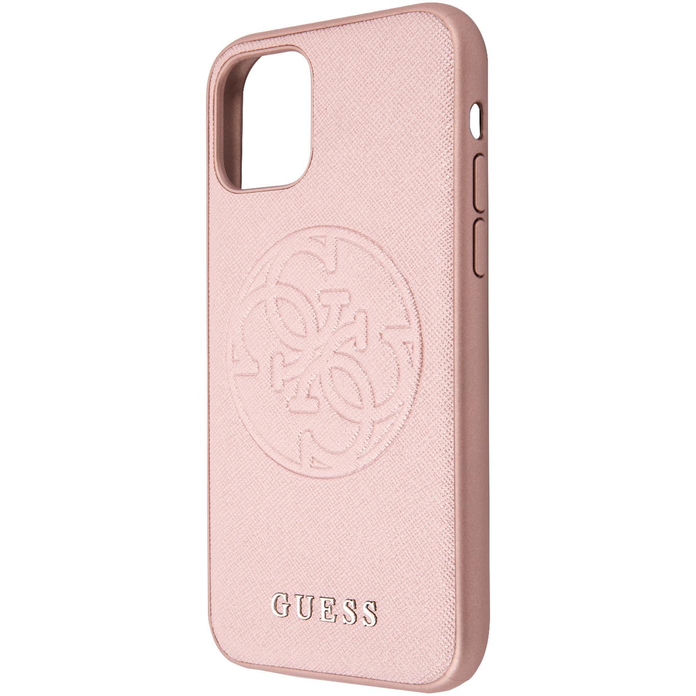 Fotografie Husa de protectie Guess Hard Saffiano Circle Logo GUHCN58RSSASRG pentru iPhone 11 Pro, Pink