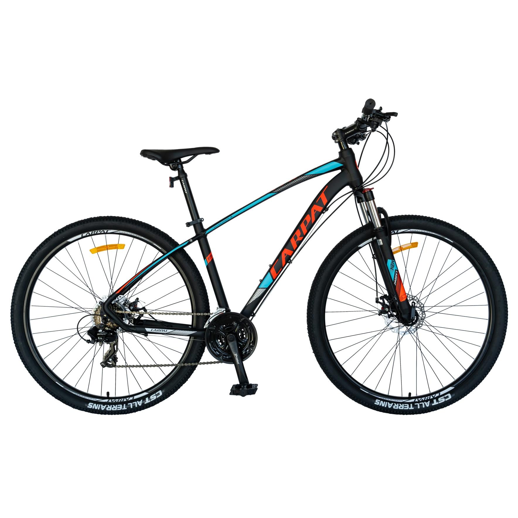 Fotografie Bicicleta MTB 29-er Carpat C2957C frana disc, transmisie Shimano, Negru Albastru