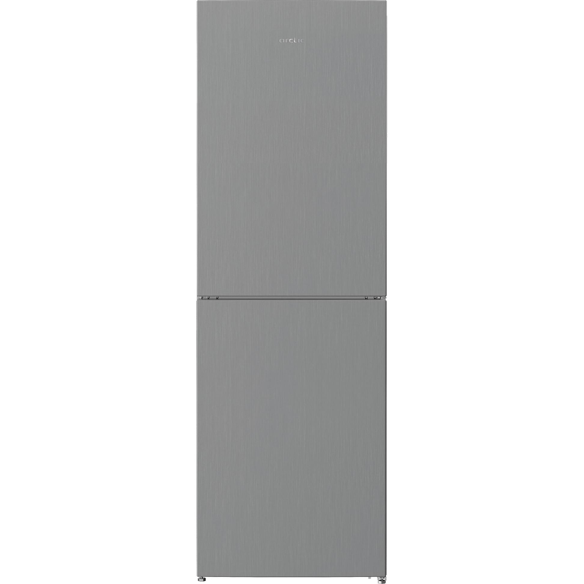 Fotografie Combina frigorifica semi-incorporabila Arctic AK60386M40NFMT, 358 l, Full No Frost, Air Flow Dual Tech, H 202 cm, Clasa A++, Metal Look