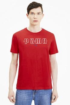 Puma, Brand kerek nyakú póló logómintás póló, Piros