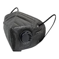 KN95 FFP2 fekete szelepes maszk, 5 rétegű szájmaszk n95 - 10 db