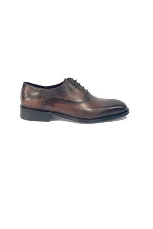 Pantofi barbati, 4 Men Ceremony, Piele naturala, maro inchis, 44 EU