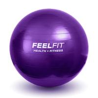 Фитнес гимнастическа топка за упражнения Feel Fit, 65 cm, бледоморав