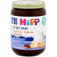 Hipp Jó Éjt Papi banános-kakaós tejbegríz, 6 hónapos kortól, 190 g