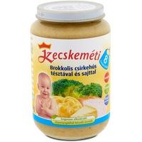 Kecskeméti Bébiétel brokkolis csirkehús tésztával és sajttal, 8 hónapos kortól, 220 g