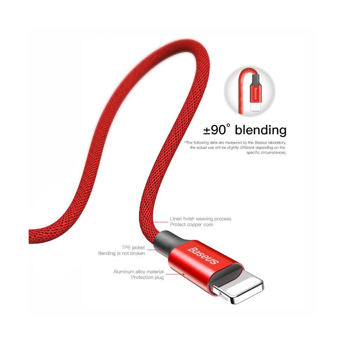 Baseus Lightning kábel, Yiven 1.5A, 3m, piros (CALYW-C09) LKUFPG